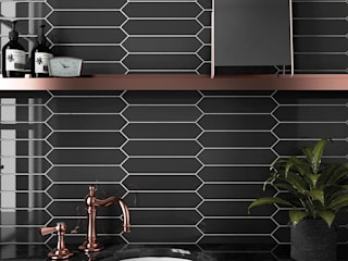 Equipe Ceramicas Modern bathroom Tiles Black