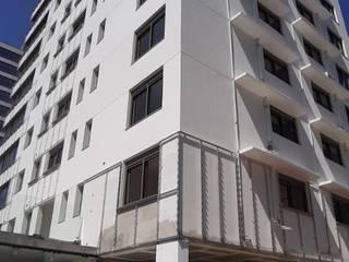 Edífio Poema ISG Engenharia Paredes e pisos minimalistas