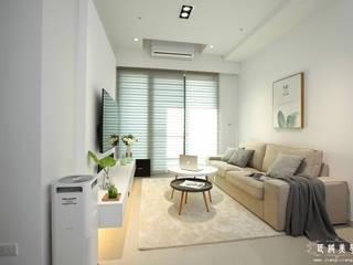 超~極~白~  設計是一種教養:  客廳 by 匠將室內裝修設計股份有限公司, 現代風