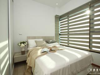 超~極~白~  設計是一種教養:  臥室 by 匠將室內裝修設計股份有限公司, 現代風