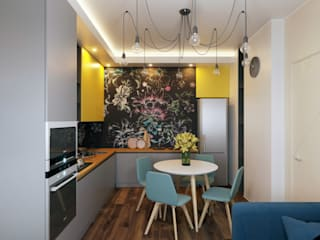 Яркий Крылов Кухня в стиле минимализм от TIME DESIGN STUDIO Минимализм