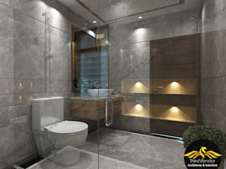 Flat Interior Modern bathroom by ThirdVendor - Architects & Interiors Modern