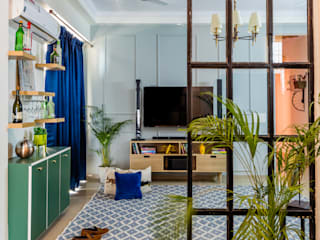 Mahagun Mywoods, Phase 3 Tropical style living room by Amusing Interior Tropical