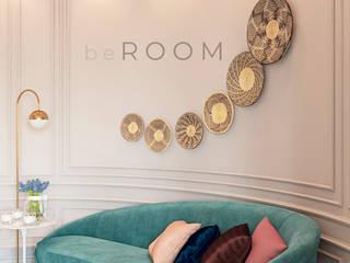 ЖК Воронцовский Парк (Гостиная-Кухня) Гостиные в эклектичном стиле от Студия дизайна beROOM Эклектичный