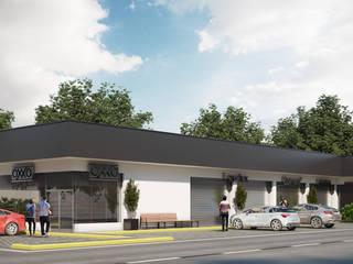 Construcción y Desarrollos Inmobiliarios DIBAR Pusat Perbelanjaan Modern Beton Grey