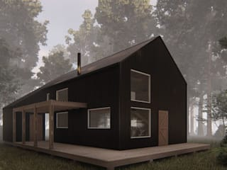 Casa Galpón HI-I Casas estilo moderno: ideas, arquitectura e imágenes de Soc. Constructora Cavent Spa Moderno