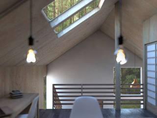 Casa Galpón HI-I Dormitorios de estilo moderno de Soc. Constructora Cavent Spa Moderno