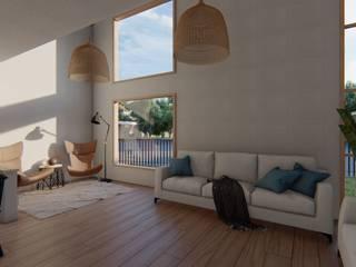 Salas multimedia de estilo moderno de Soc. Constructora Cavent Spa Moderno