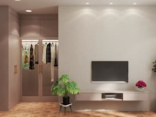 Thiết kế và thi công nội thất nhà phố dự án Thăng Long Home bởi Công ty TNHH kiến trúc xây dựng nội thất An Phú Châu Á
