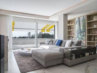 Reforma integral de vivienda exclusiva Bilbaodiseño Salones de estilo moderno