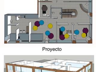 PROYECTO Y EJECUCION: Clinica GROW CLINIC. Montecarmelo- Madrid: Paredes de estilo  de Arquide Estudio, reforma y rehabilitación en Madrid, Moderno