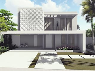 Casa dos Sonhos: Casas familiares  por Joseane Ruivo Arquitetura,Moderno