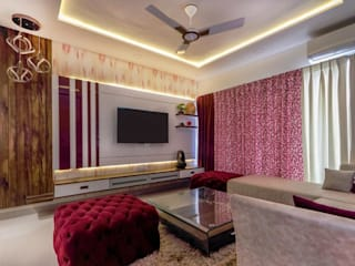 2bhk, F Residencies Modern living room by AARAYISHH Modern