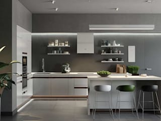 Proyectos Interiores Cocinas modernas de Edificaciones Arcon Moderno