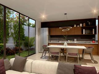 Proyectos Interiores Salones modernos de Edificaciones Arcon Moderno