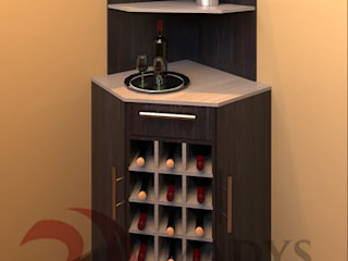 MADYS INTERIORES Modern Home Wine Cellar Multicolored
