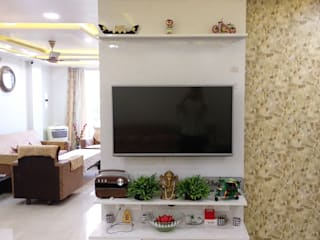 3BHK in Bhopal gets a modern facelift Modern living room by AdiSa Creations Modern