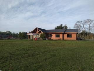 VIVIENDA 180M2 Casas de estilo rústico de CONSTRUCTORA HIDALGO Rústico