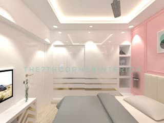Private Residence at link road Modern style bedroom by The 7th Corner Interior Modern