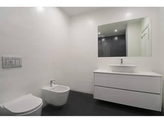 MILOBRAS - Empresa de Obras e Remodelação Kamar Mandi Modern Keramik White