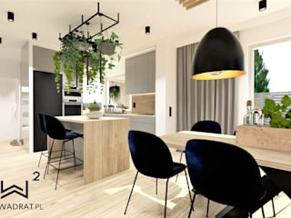 Cucina attrezzata in stile  di Wkwadrat Architekt Wnętrz Toruń, Industrial