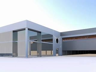 Edificio Industrial y de Oficinas en Meco, Madrid: Paredes de estilo  de ag arquitectura sa, Industrial