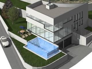Vivienda Unifamiliar en Ja´vea, Alicante: Casas unifamilares de estilo  de ag arquitectura sa, Moderno