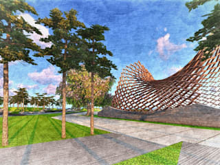 Elements- Architectural designs and sculptures for Landscapes by Kiasma Landscapes by Kiasma Landscapes Modern