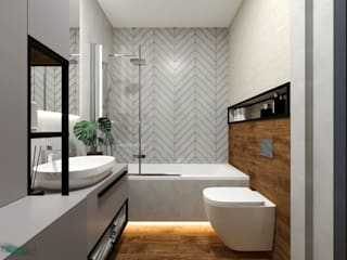 GACKOWSKA DESIGN Modern bathroom Grey