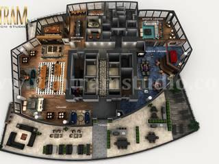 Planimetria virtuale 3D professionale del design sul tetto dell'appartamento con idee per la terrazza dello studio di progettazione architettonica di Yantram Design Studio di architettura Classico