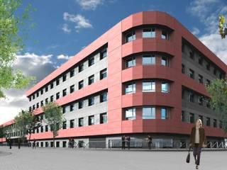 Edificio de Oficinas en Madrid: Paredes de estilo  de ag arquitectura sa, Moderno