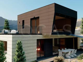MODELO ANDRAX-Navalagamella-MADRID de QCASA.Madrid. Viviendas industrializadas eficientes de hormigón Moderno