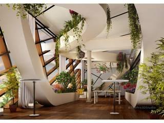 House interior rendering ThePro3DStudio Modern Corridor, Hallway and Staircase