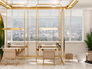WALL INTERIOR DESIGN Clinics Amber/Gold