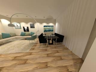 PROGETTO DI RESTYLING & INTERIOR DESIGN COMPLETO DI UN APARTAMENTO AD ARESE Angela Archinà Progettazione & Interior Design Ingresso, Corridoio & Scale in stile minimalista