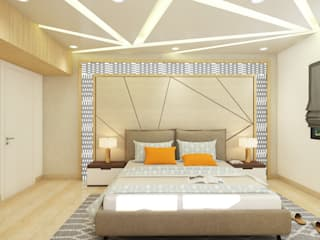 DUPLEX HOME INTERIOR DESIGN:  Bedroom by WILSON DOT INTERIORS,Modern