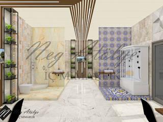 Duş Sistemleri Showroom Mağaza Tasarımı Modern Banyo NEG ATÖLYE İÇ MİMARLIK Modern