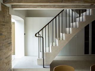 Bronze Patinated Brass Staircase Balustrades for West Architecture by Collier Webb Minimalist