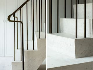 Bronze Patinated Brass Staircase Balustrades for West Architecture Oleh Collier Webb Minimalis