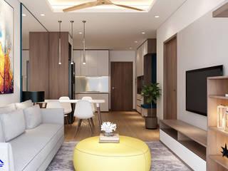 Thiết kế nội thất phòng khách: hiện đại  by Nội Thất Đại Tứ Phát, Hiện đại