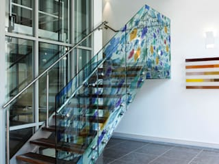AMP Creatividad e Interiores Study/office Glass