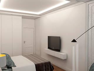 Classic style bedroom by STUDIO DESIGN КРАСНЫЙ НОСОРОГ Classic