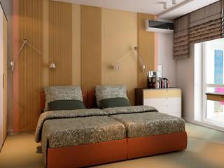 Minimalist bedroom by STUDIO DESIGN КРАСНЫЙ НОСОРОГ Minimalist