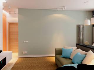 Minimalist living room by STUDIO DESIGN КРАСНЫЙ НОСОРОГ Minimalist