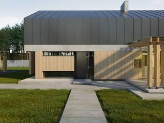 Pasywny dom jednorodzinny typu stodoła do 120m2 od Budownictwo i Architektura Marcin Sieradzki - BIAMS Nowoczesny