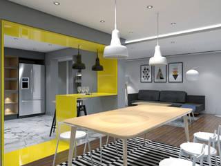 Minimalist dining room by ST-EM Architecture Minimalist