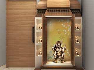 Temple area in 3 BHK by Designers Gang