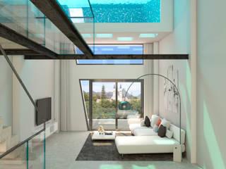Barreres del Mundo Architects. Arquitectos e interioristas en Valencia. ห้องนั่งเล่น White