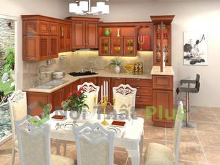 Công ty thiết kế thi công nội thất - NỘI THẤT PLUS Bodegas Concreto Acabado en madera