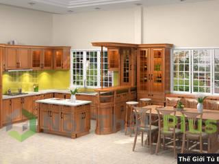 Công ty thiết kế thi công nội thất - NỘI THẤT PLUS CocinaElectrónica Bambú Acabado en madera